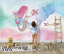 3D Wallpaper for Bedroom and Living Room Mermaid