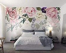 3D Wallpaper for Bedroom and Living Room Rose Leaf