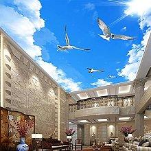 3D Wallpaper for Wall Sunny Blue Sky Flying Bird