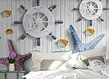 3D Wallpaper Mediterranean Starfish for Walls
