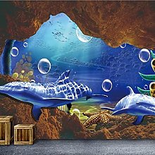 3D Wallpaper Mural Ocean Large Living Room Tv