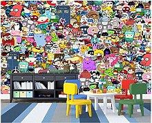 3D Wallpaper Mural with Animal Motifs Interior