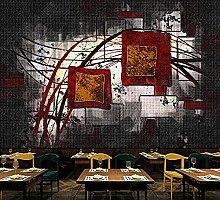 3D Wallpaper murals Black and White Geometric line