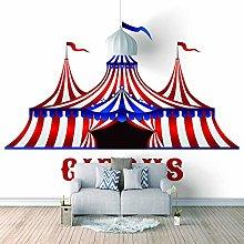 3D Wallpaper Murals Cartoon Circus Tent Mural