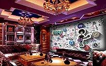 3D Wallpaper murals Music Symbol Modern ktv Mural