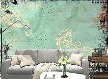 3D Wallpaper Pattern Green for Walls Murals