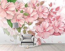3D Wallpaper Pink Flower for Walls Murals