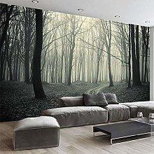 3D Wallpaper Retro Foggy Forest Tree Photo Living