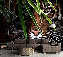 3D Wallpaper Tiger for Walls Murals Wallpaper for