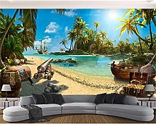 3D Wallpaper Wallpaper Home Decoration Beach Life