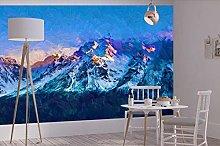 3D Wallpaper Winter Peak for Walls Murals