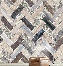 3D Wallpaper Wood Chips Wood Grain Effect Brick