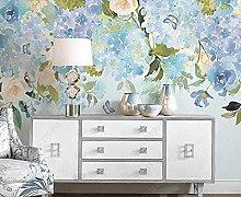 3D Wallpapers Blue Flower Butterfly Wallpaper Wall