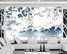 3D Wallpapers Branch Bird Leaf Wallpaper Wall