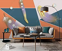 3D Wallpapers Color Feather Geometry Wallpaper