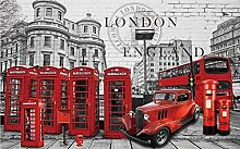 3D Wallpapers for Walls Retro Red Phone Booth