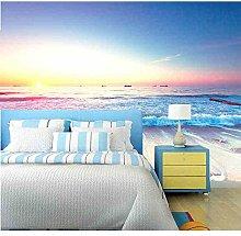 3D Wallpapers Seascape Sea Beach Bedroom Sofa Tv