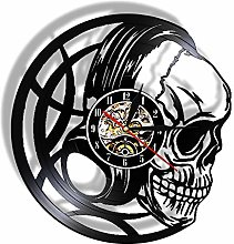 3d Watch Black Skull Wall Clock With Led Backlight