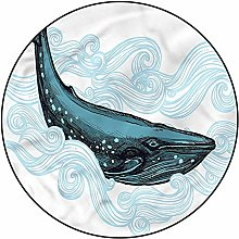 3D Whale Pattern Area Rugs Carpets,5'