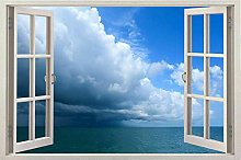 3D Window View Removable Wall Art Stickers Vinyl