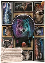 3D Wolf Fly Horse Animal Square Plush Blanket,
