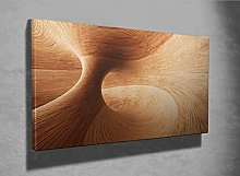 3D Wooden Abstract framed canvas print (17671231)