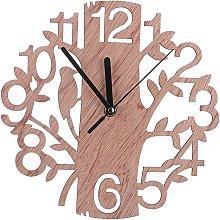 3D Wooden Clock Wall Pendulum Creative Tree Shape