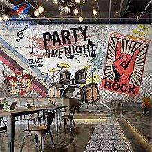 3dretro Nostalgic Music Decoration Mural 3D bar