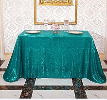 3E Home 120X180cm(48X72 inches) Teal Oblong Sequin