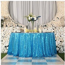 3e Home 72-Inch Round Sequin TableCloth for Party