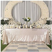 3E Home Rectangle Sequin TableCloth for Party Cake