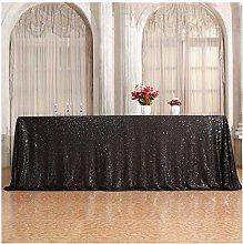 3E Home Rectangle Sequin TableCloth for Party Cake