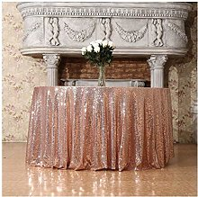 3E Home Round Sequin TableCloth for Party Cake
