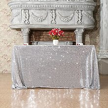 3E Home Square Sequin TableCloth for Party Cake