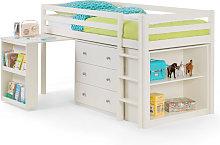 3ft Single 90 x 190 Stone White Sleepstation Cabin
