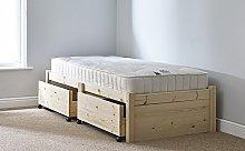 3ft Single STORAGE Studio Solid Pine Bed Frame