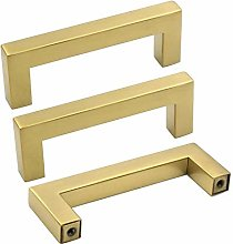 3in Cabinet Handles Brushed Brass Handles for