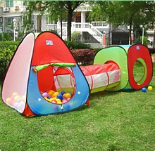 3in1 Children Playhouse Set Play Tent Tunnel Cube