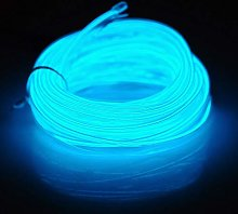 3M Ice Blue Neon Wire Light Tube Rope Battery