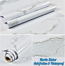 3M Kitchen White Marble Wallpaper PVC Wall