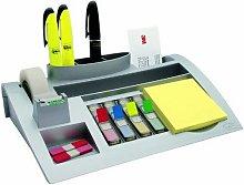 3M Silver Desk Organiser/Post-it Notes - 3M86763