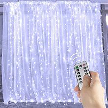 3Mx3M 300 LED 6W Curtain Fairy Lights USB 8Modes