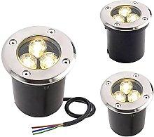 3Pack Color Underground Light LED Lights, 3W IP67