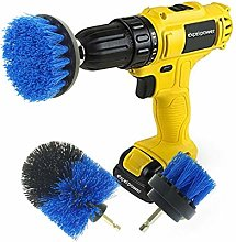 3pc Drill Powered Brush Set Cleaning Attachment