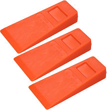3Pcs 14cm Orange Plastic Felling Wedge Felled