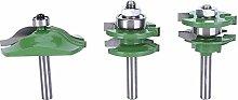 3Pcs 8-Shank Cutter Drill Set T Shape Wood Milling