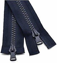 3Pcs 80/90/100/120cm 5# Open-End Resin Zipper