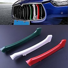 3Pcs Abs Car Front Grill Grille Insert Trim Cover