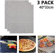 3pcs BBQ Grill Mesh Mat Non Stick Barbecue Grill