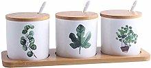3pcs Ceramic Spice Jar / Spice Pots / Spice Box
